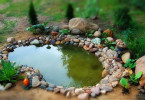 Искусственный водоем на приусадебном участке - прекрасное место для отдыха