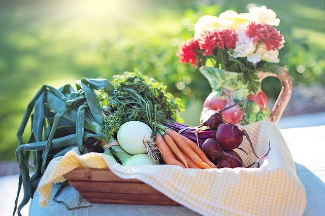 овощи, лук, морковь