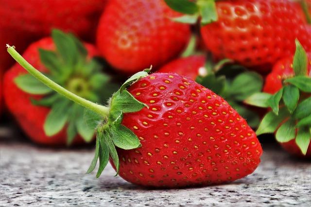 клубника, фруктов, сезон