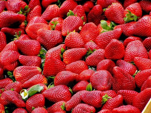 клубника, красный, фруктов