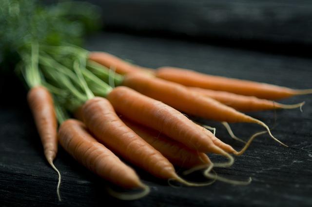 морковь, питание, свежие